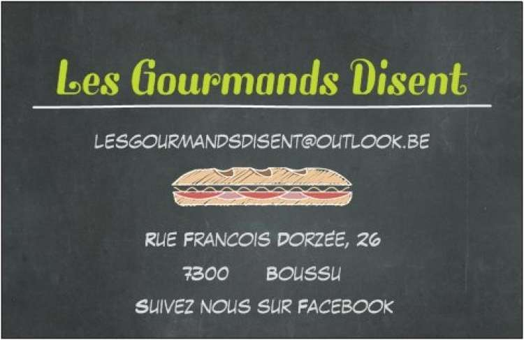 Logo Sandwicherie Les Gourmands disent Boussu
